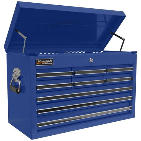 homak 174 professional 27 quot 9 drawer upper tool chest 141634 ladders storage at sportsman s guide