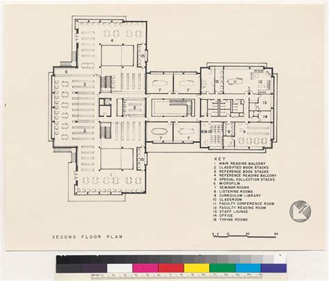 floor plans uc berkeley library dominican college library second floor plan san rafael 1958