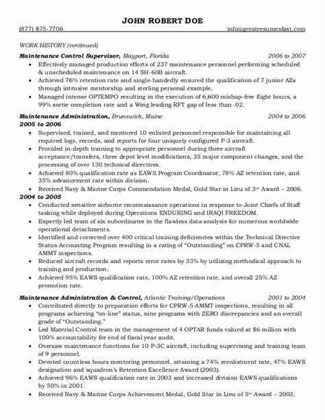 government resume template sle resumes federal resume or government resume