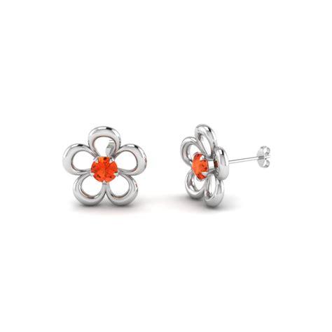 cut poppy topaz stud earrings in sterling silver