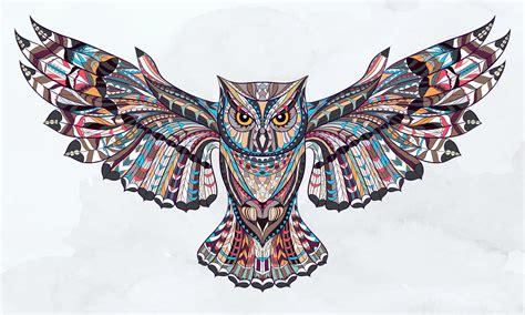 gambar tribal pattern owl eule ihre bedeutung in der mythologie von schamanen