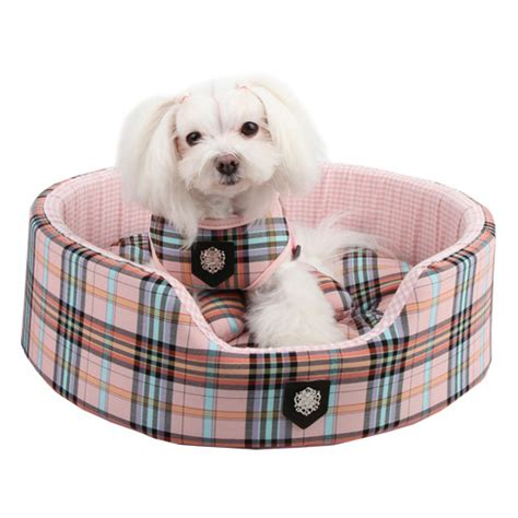 preppy puppy pink classic preppy bed beds for small dogs at glamourmutt