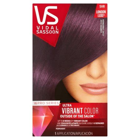 5vr hair color vidal sassoon pro series hair color 5vr lilac