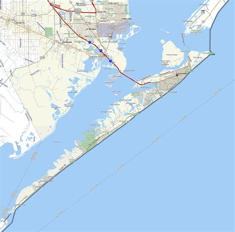 galveston texas map galveston texas map