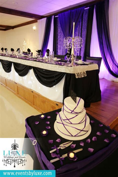 25  best ideas about Purple black wedding on Pinterest