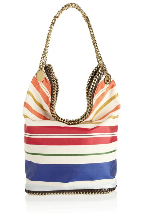 Stella Mccartney Cotton Handbag by Stella Mccartney Striped Cotton Bag 50 Now