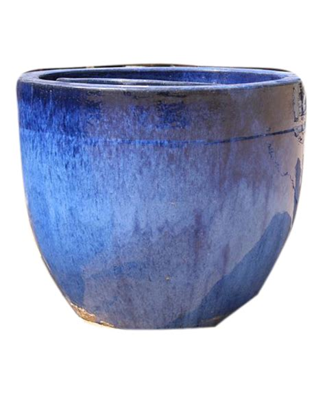 Ceramic Pot by Ceramic Blue Pots Grass Roots