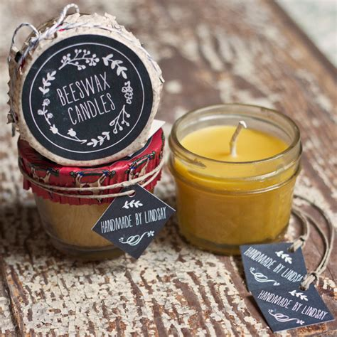 Handmade Candles - beeswax candles gift favor ideas from evermine