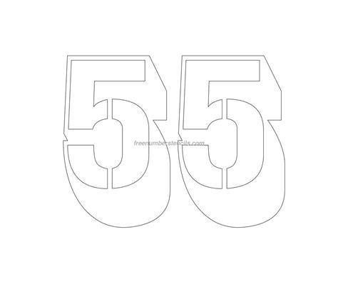 engraving templates free engraving 55 number stencil freenumberstencils