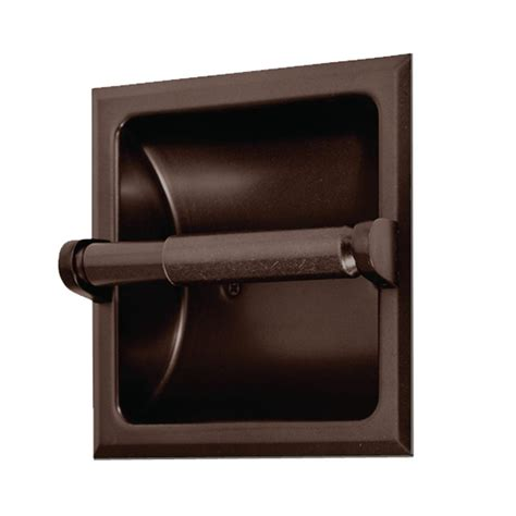 recessed toilet paper holder with shelf gatco recessed toilet paper holder in bronze 784 the