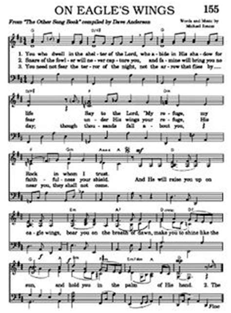 printable lyrics to on eagles wings hymns on pinterest free sheet music sheet music and
