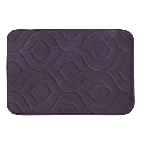 Plum Bath Rugs Bouncecomfort Naoli Plum 20 In X 34 In Memory Foam Bath Mat Ymb004231 The Home Depot