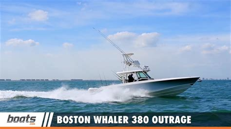 boston whaler boat reviews boston whaler 380 outrage video boat review youtube
