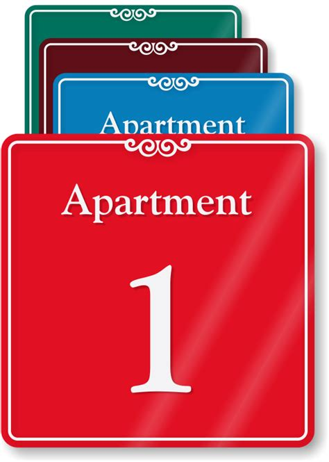 Appartment Number by Apartment Number Signs Apartment Letter Signs