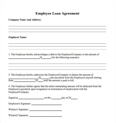 Advance Letter To Employee Template 21 Loan Agreement Template Word Excel Pdf Documents Creative Template