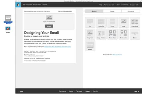 Using Your Custom Mailchimp Template 187 Wordpress Knowledgebase Mailchimp Drag And Drop Custom Template