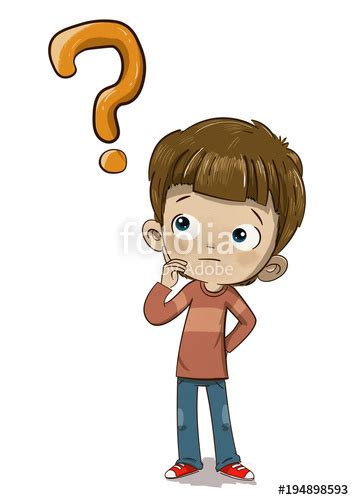 imagenes niños pensando animadas quot ni 241 o pensando con una pregunta o duda quot fotos de archivo e