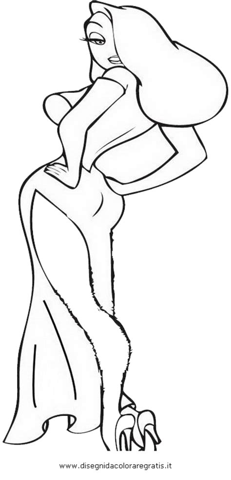 jessica rabbit coloring coloring pages
