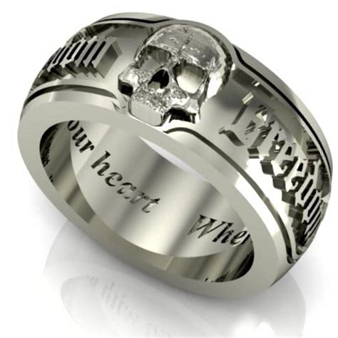 ideas skull wedding rings my babys ring