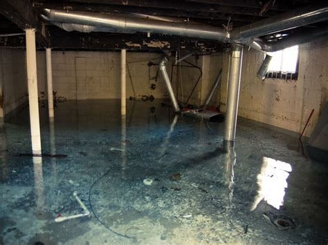 restoration project flood disaster in basement caused by
