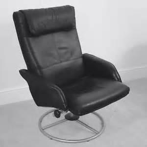 ikea black leather chair black leather ikea chair recliner swivel ebay