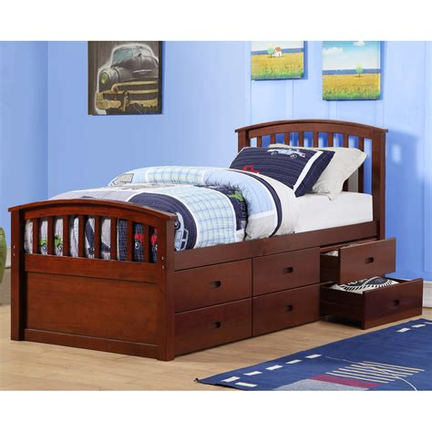 kids bed with drawers donco kids twin slat bed with drawers wayfair