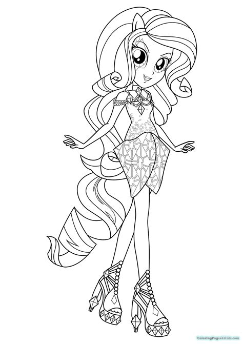 Equestria Girls Rainbow Rocks Coloring Pages   Coloring