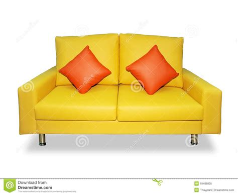 how to clean sofa pillows clean yellow sofa and pillows royalty free stock photo