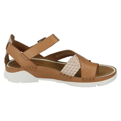Summer Sandals In clarks leather toe post strappy casual summer