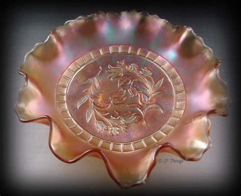 flower pattern glass dugan marigold carnival glass windflower 10 ruffled bowl