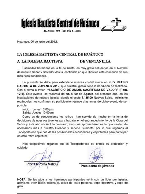 carta de retiro claro carta de invitaci 243 n retiro 2012