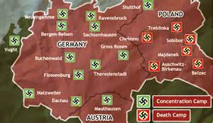 Concentration Camps In Germany Map by The Holocaust