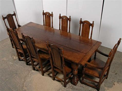 desk and chair set english gothic farmhouse refectory chair set