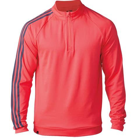 Sweater Stripe 4 2016 adidas mens 3 stripe 1 4 zip fleece jacket golf cover up sweater ebay