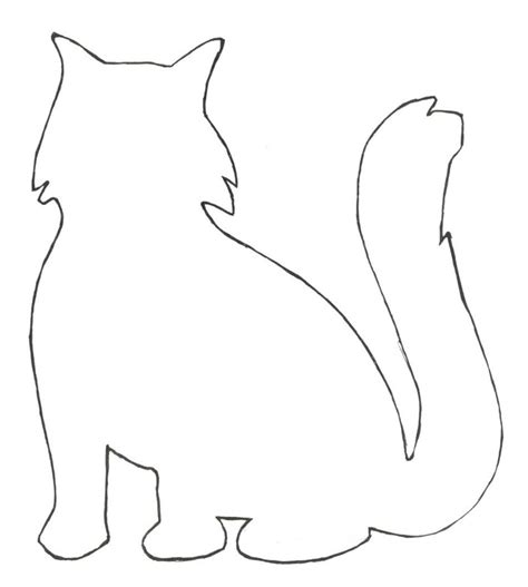 cat template cats free patterns for everyday arts crafts