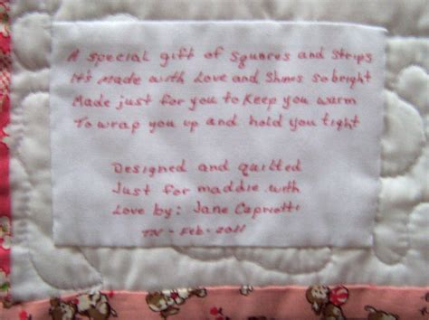 Baby Quilt Poem s quilting quilt labels