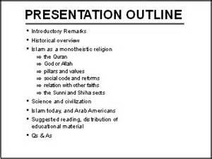 image gallery presentation outline