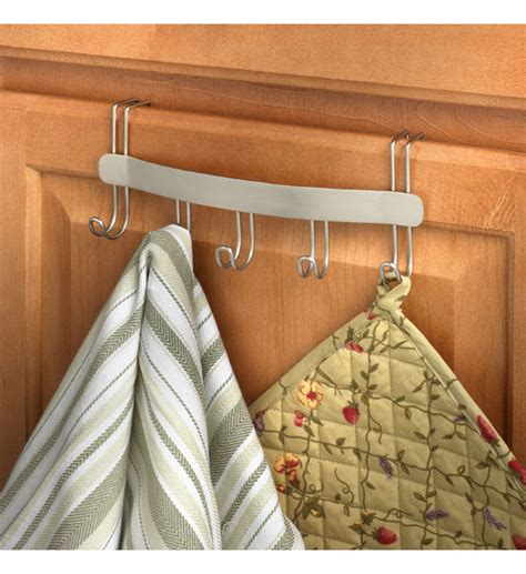 kitchen cabinet towel holder over the cabinet door towel holder in kitchen towel holders