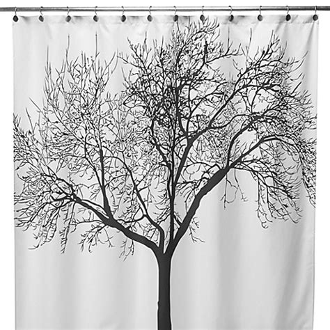 Buy Black And White Fabric Shower Curtains From Bed Bath
