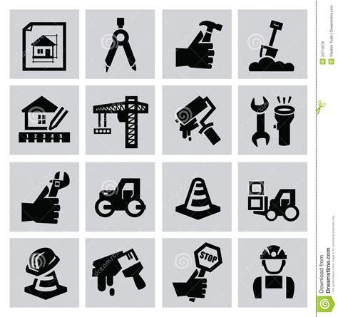 Construction Icons Royalty Free Stock Image   Image: 33714076