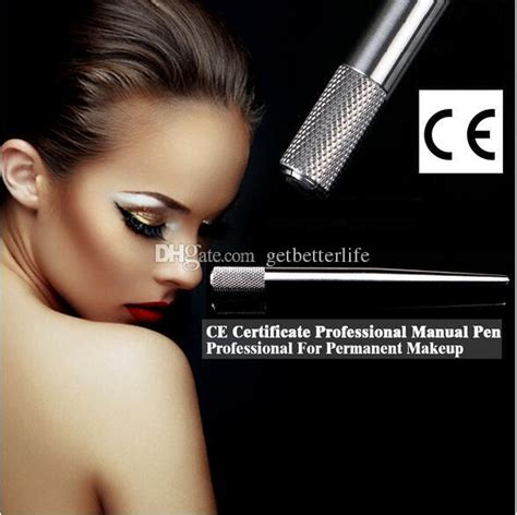 getbetterlife permanent manual tattoo eyebrow makeup pen with blade ss autoclavable manual pen permanent makeup eyebrow hand