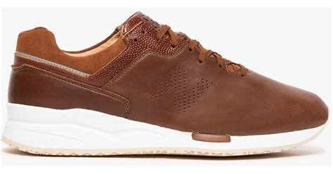 Jual New Balance Brown new balance ml2016 in brown leather in brown for lyst