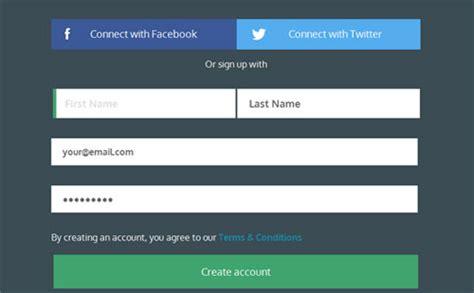 35 Bonitos Formularios Css Para Registros Y Login En Web Blog Webgenio Registration Page Template