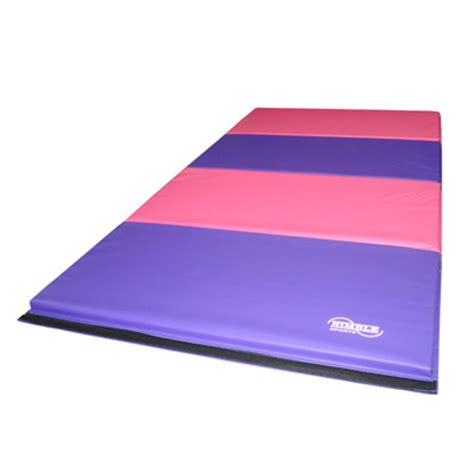 8ft pink purple folding gymnastics mat by nimble sports