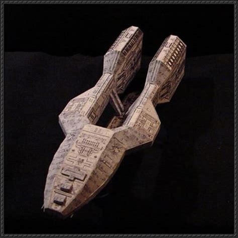 Battlestar Galactica Papercraft - battlestar galactica wedge shaped vessel defender free