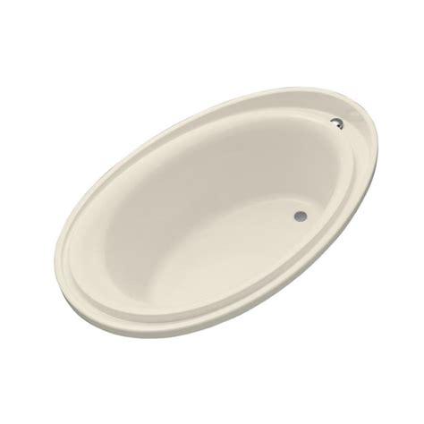 kohler purist bathtub shop kohler purist almond acrylic oval drop in bathtub