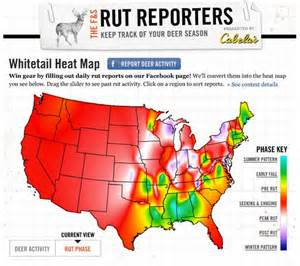 whitetail activity rut report interactive map