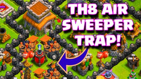 coc th8 layout with air sweeper clash of clans townhall 8 air sweeper base layout th8