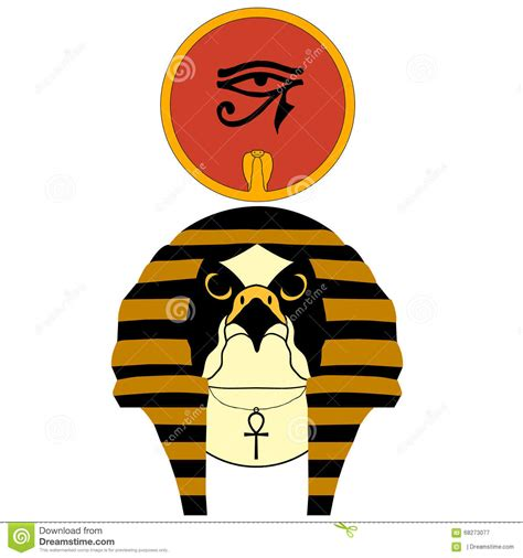 rã sumã in vector illustration of the ancient god ra stock