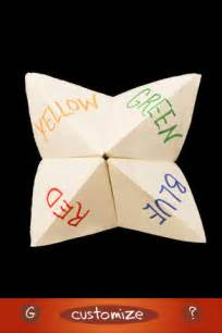 chatterbox a paper fortune teller on the app store